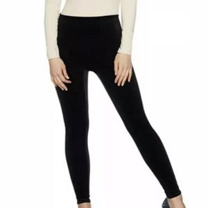 SPANX Black Velvet Leggings Sz 3X